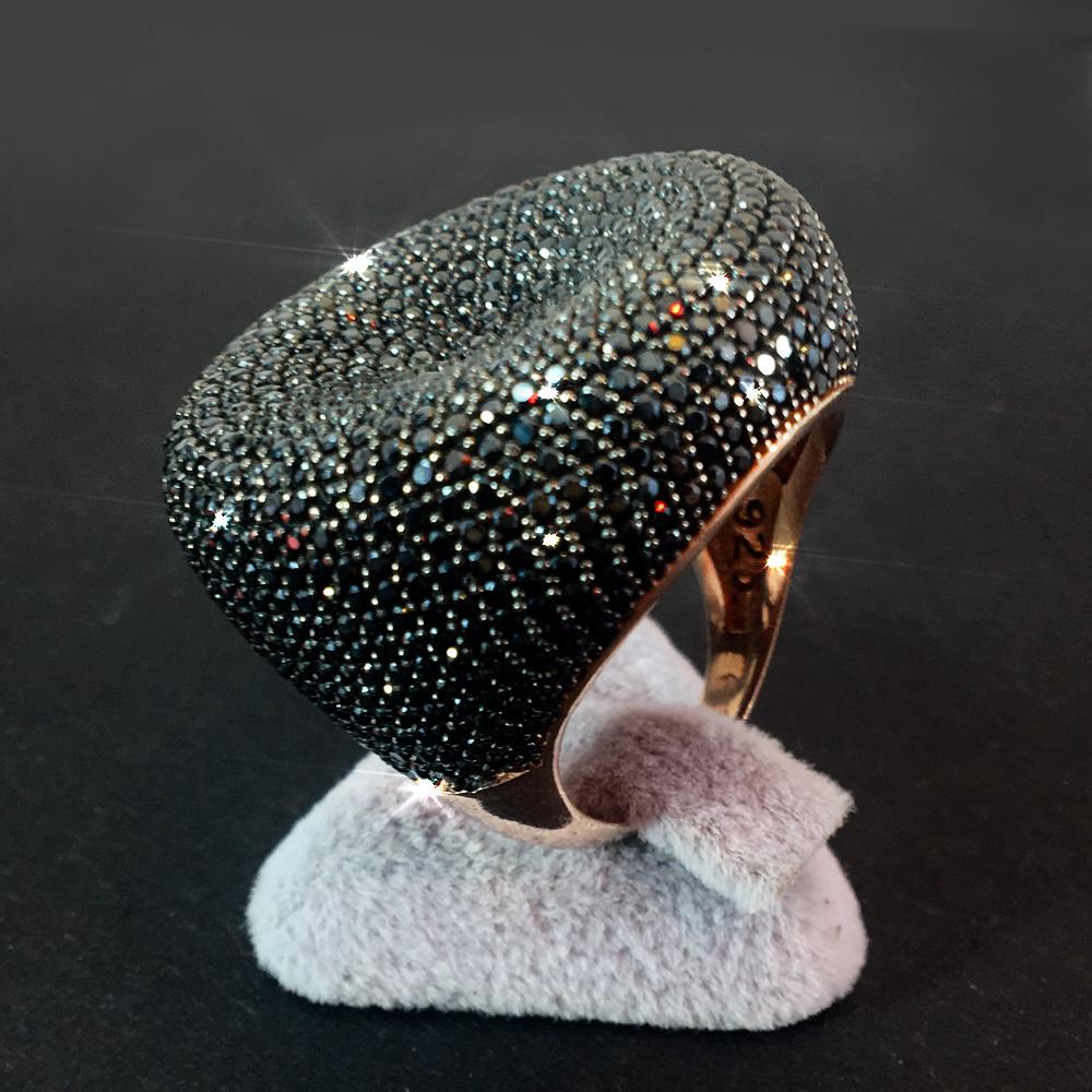 Zirkon Taşlı El Yapımı 925 Gümüş Yüzük - Özel Yapım | ID00137