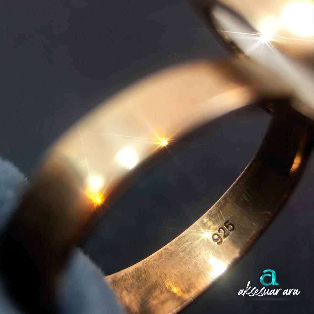 Aytaşı & Ametis Taşlı El Yapımı 925 Gümüş Yüzük | ID00138