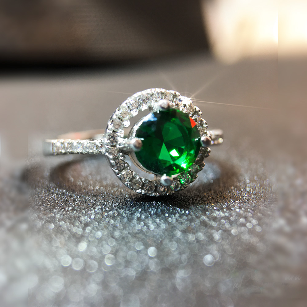 Yeşil Akik Doğal Taş 925 Ayar Gümüş Yüzük | ID00144