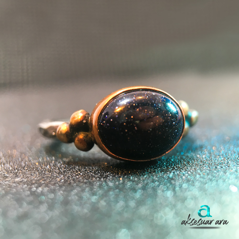 Doğal Yıldız Taşlı 925 Ayar Gümüş Kadın Yüzük | ID00145