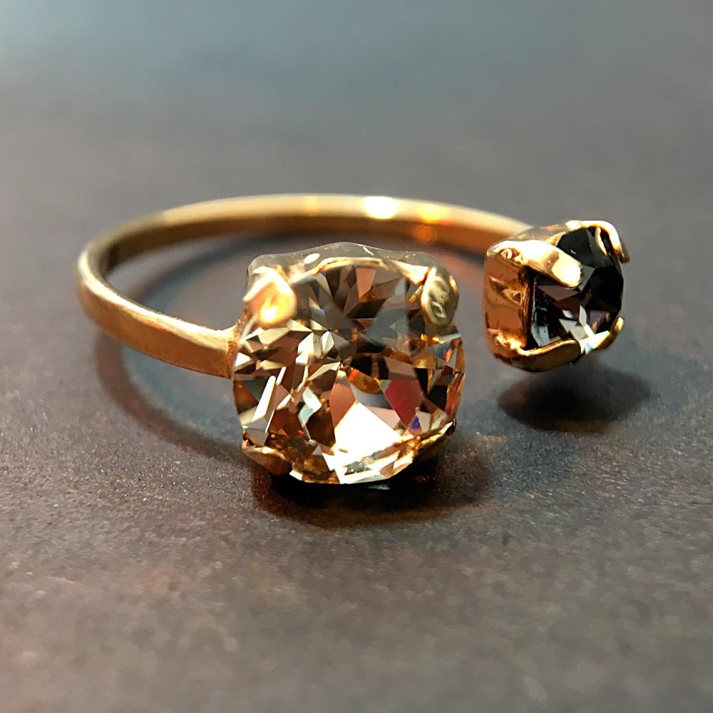 Sitrin ve Mistik Topaz Doğal Taş 925 Ayar Gümüş Yüzük | ID00167