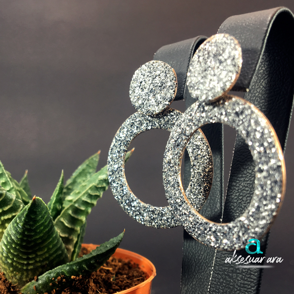 Kalın Halka Tasarım 925 Ayar Gümüş Küpe | ID00177