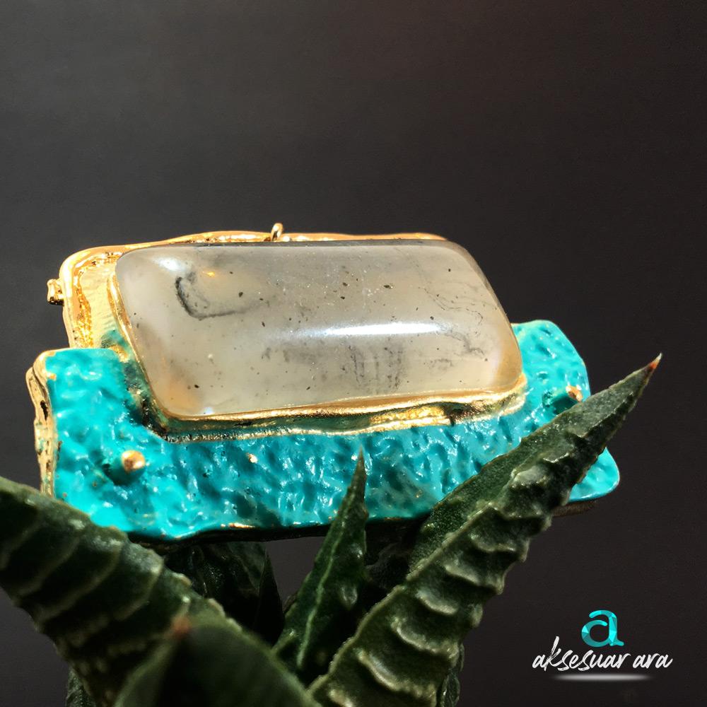 Ocean Stone Bayan Küpe | ID00185
