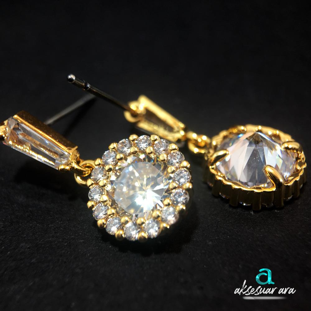 Clean Crystal Bayan Küpe| ID00198