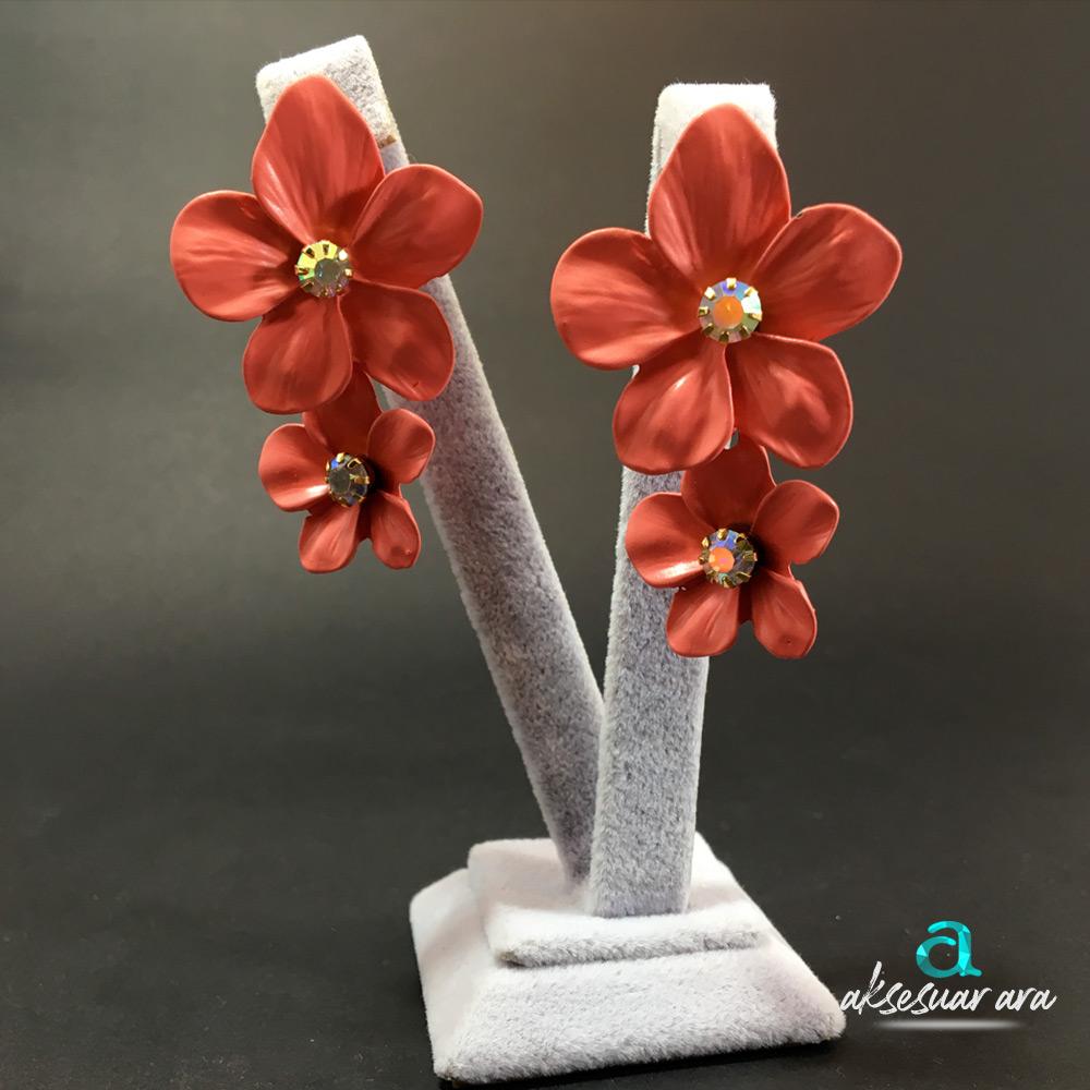 Pink Flowers Kadın Küpe | ID00202