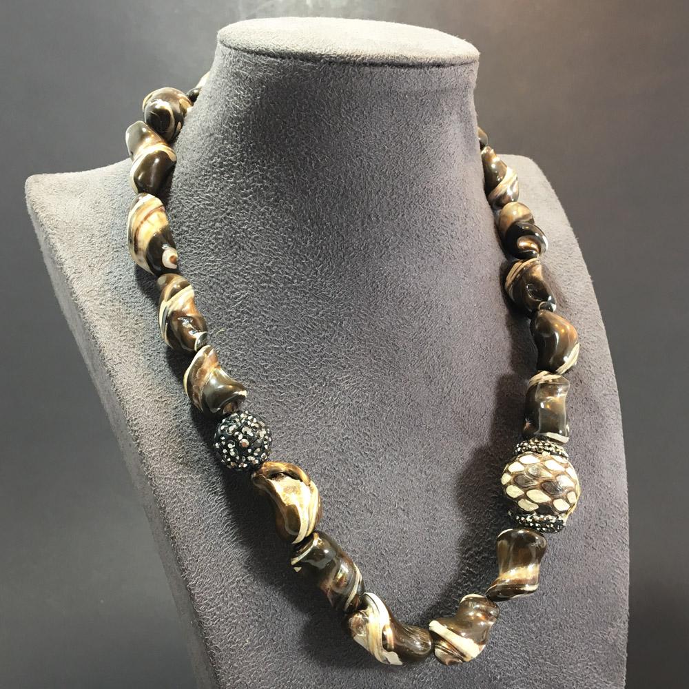 Sedef Kırma Luxury 925 Ayar Gümüş Bayan Kolye | ID00225