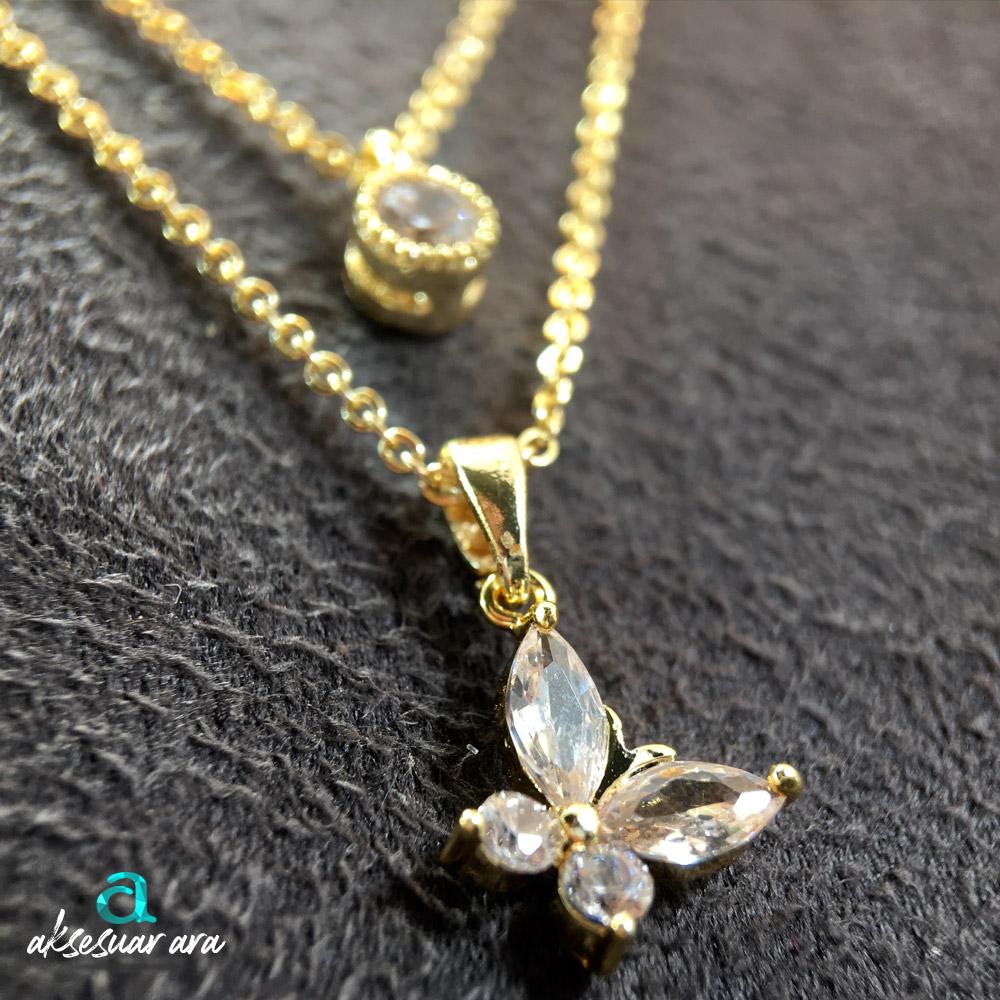 Yasemin Çiçeği Zirkon Bayan Kolye | ID00262