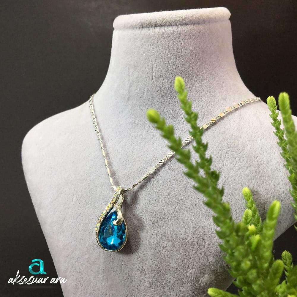 Blue Crystal Bayan Kolye | ID00264
