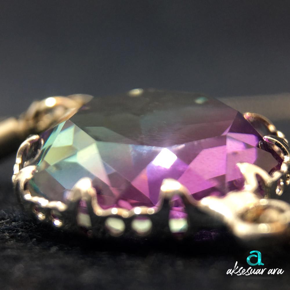 Purple Dimond Bayan Bileklik| ID00296