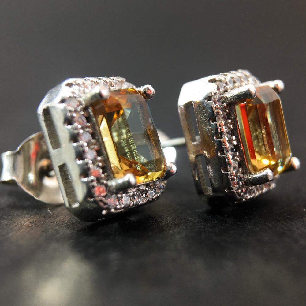 Ala Zultanit Doğal Taşlı El Yapımı Tasarım 925 Ayar Gümüş Küpe | ID00320